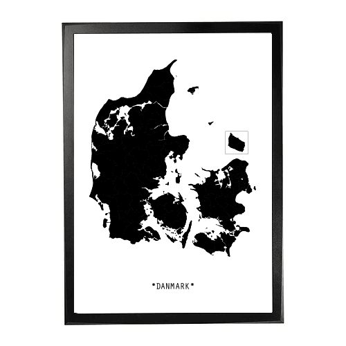 Landkort-Danmark 1