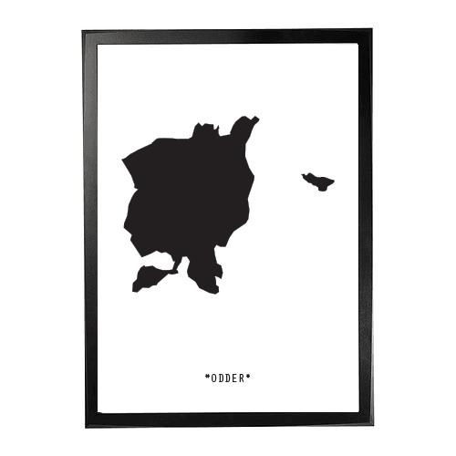 Landkort-Odder 1