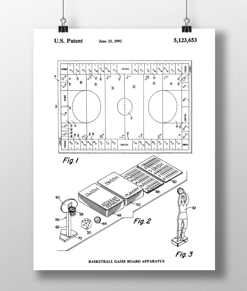 Basketball Game Patent | Plakat 1