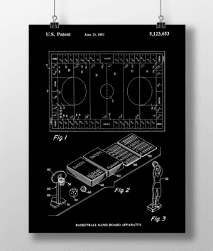 Basketball Game Patent | Plakat 3