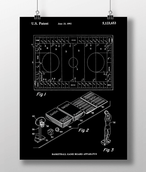 Basketball Game Patent | Plakat 2