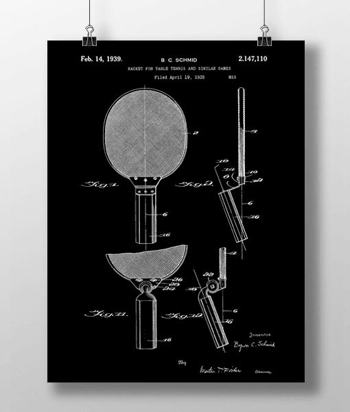 Bordtennis Bat Patent | Plakat 2