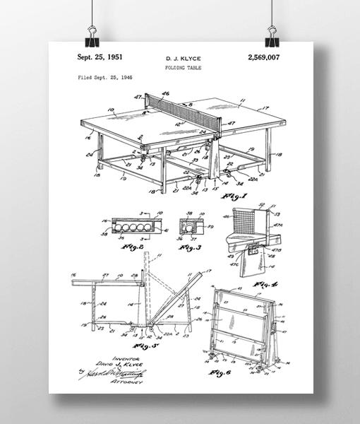 Bordtennis Bord Patent | Plakat 2
