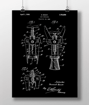 Cork Retractor Patent | Plakat 3