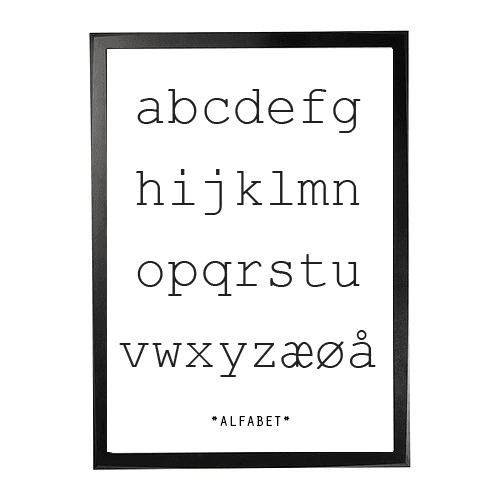 Plakat alfabet 1
