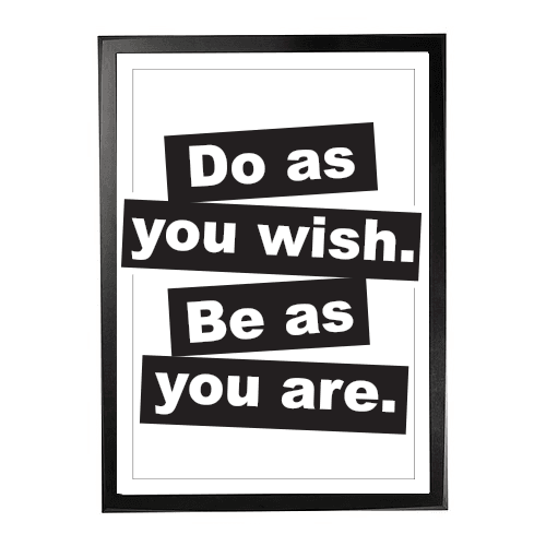 Be as - Do what 1