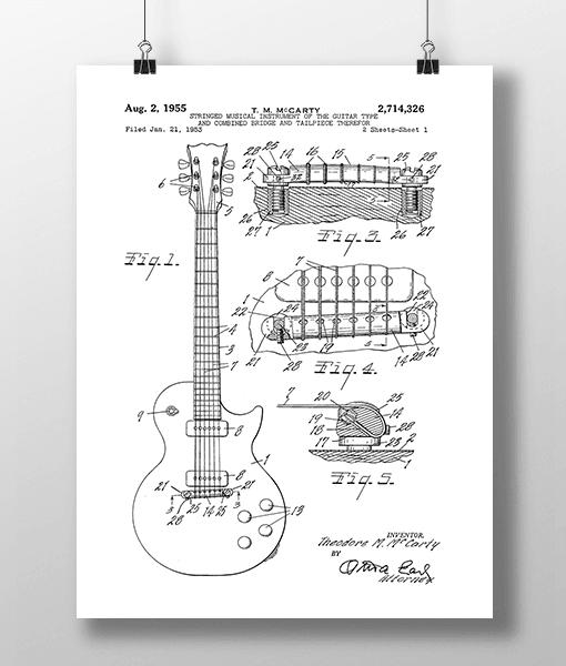 Elguitar 1 Base Patent | Plakat 2