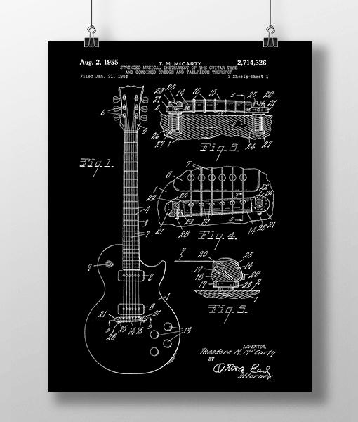 Elguitar 1 Base Patent | Plakat 1