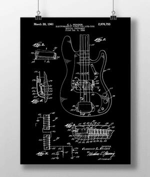 Elguitar 2 Base Patent | Plakat 3