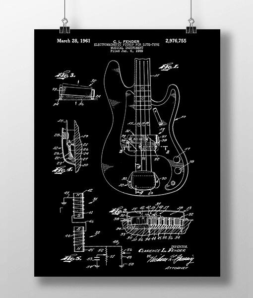 Elguitar 2 Base Patent | Plakat 2