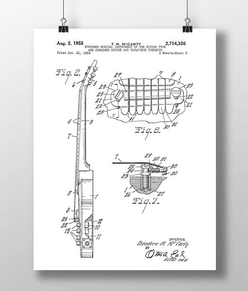 Elguitar 3 Base Patent | Plakat 2