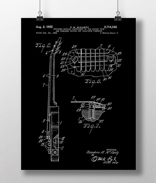 Elguitar 3 Base Patent | Plakat 1