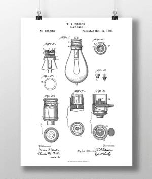 Glødepære Base Patent | Plakat 3