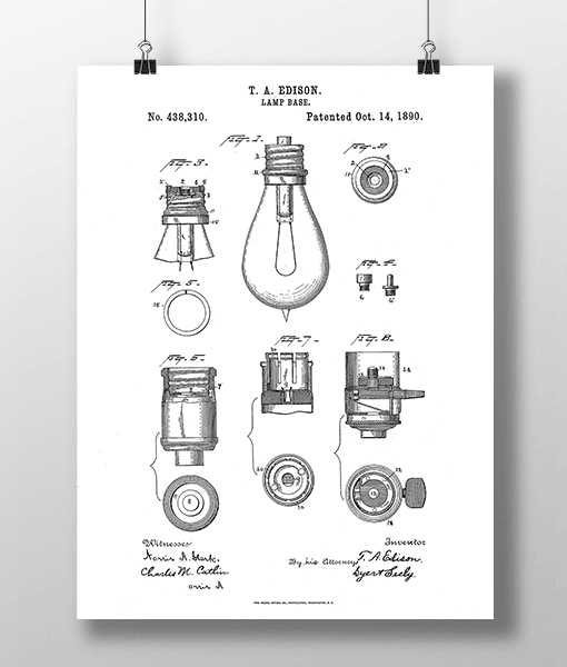 Glødepære Base Patent | Plakat 2