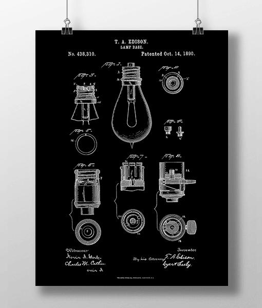 Glødepære Base Patent | Plakat 1