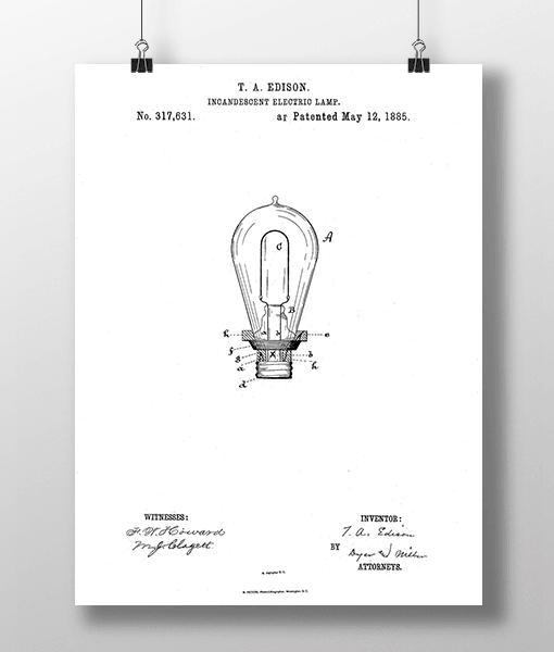 Glødepære Patent | Plakat 1