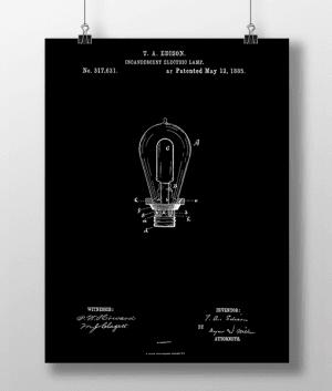 Glødepære Patent | Plakat 3
