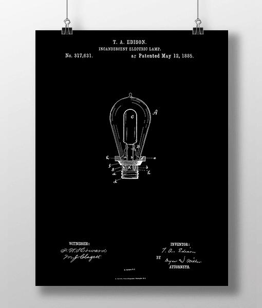 Glødepære Patent | Plakat 2