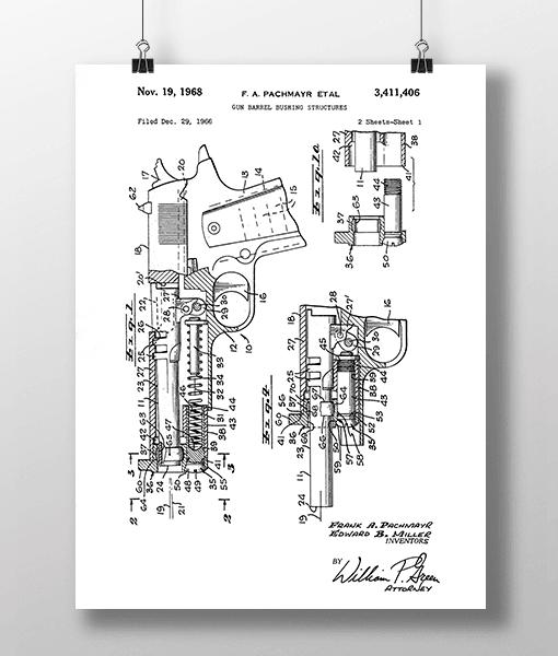 Pistol Konstruktion 1 Patent | Plakat 2