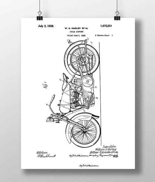 Harley Cycle 1 Patent | Plakat 1