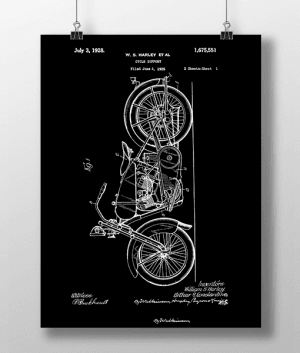 Harley Cycle 1 Patent | Plakat 3