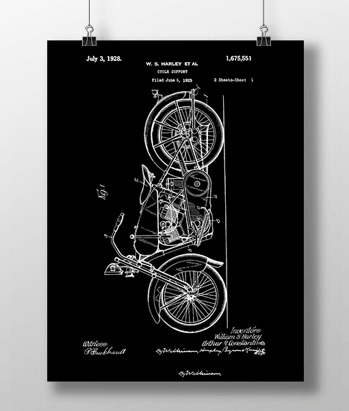 Harley Cycle 1 Patent | Plakat 2