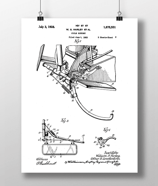 Harley Cycle 2 Patent | Plakat 1