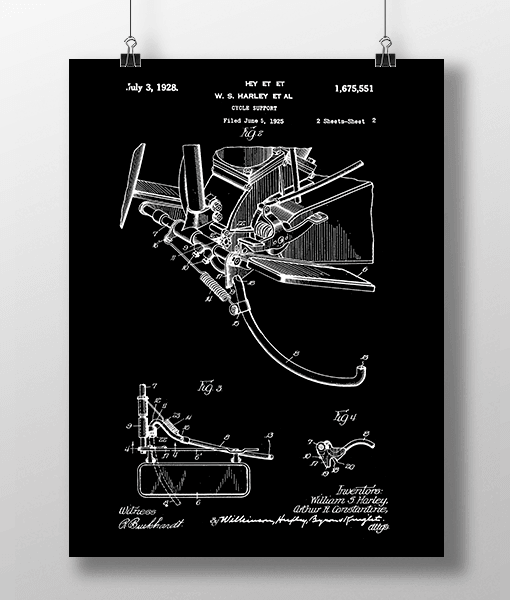 Harley Cycle 2 Patent | Plakat 2
