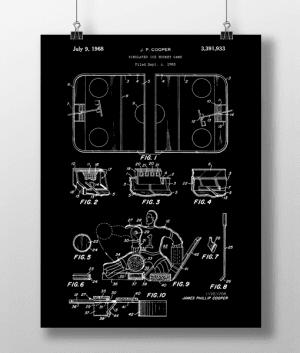 Hockey Game Patent | Plakat 3