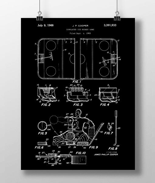 Hockey Game Patent | Plakat 2