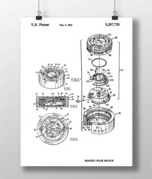 Hockey Puck Patent | Plakat 3