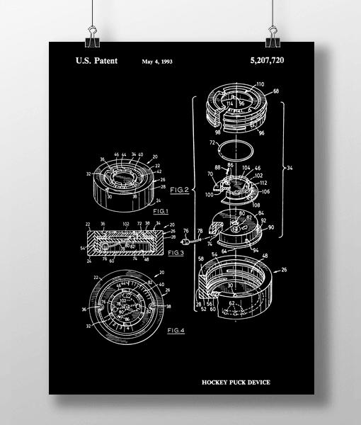 Hockey Puck Patent | Plakat 1