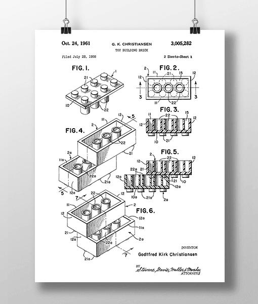 Lego Klodser 1 Patent | Plakat 2