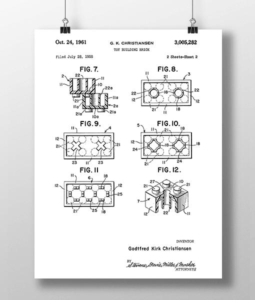 Lego Klodser 2 Patent | Plakat 1