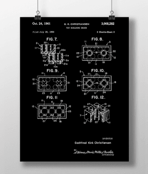 Lego Klodser 2 Patent | Plakat 3