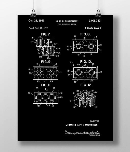 Lego Klodser 2 Patent | Plakat 2