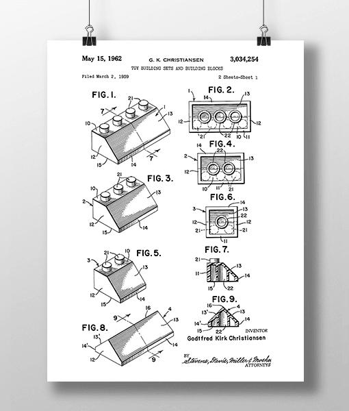 Lego Klodser 3 Patent | Plakat 2