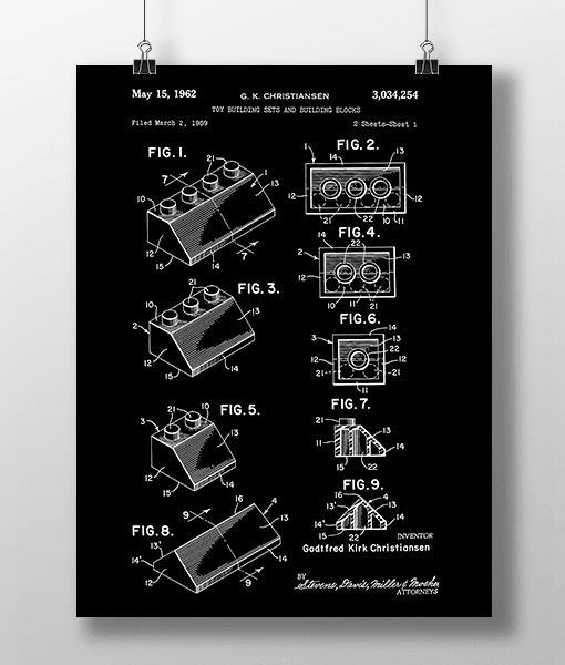 Lego Klodser 3 Patent | Plakat 1