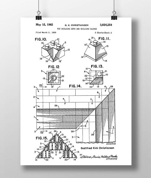 Lego Klodser 4 Patent | Plakat 1
