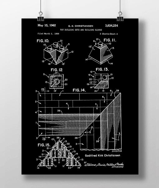 Lego Klodser 4 Patent | Plakat 2