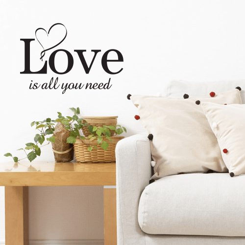 wallstickers tekst all you need is love 1