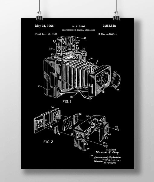 Photo Camera 1 Patent | Plakat 3