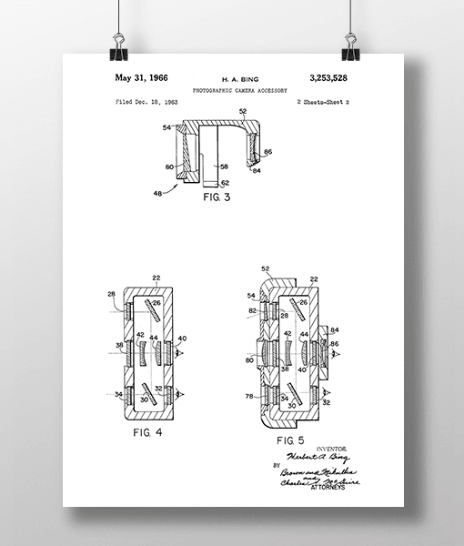 Photo Camera 2 Patent | Plakat 1