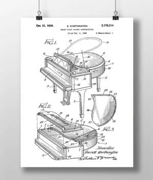 Piano Patent | Plakat 3