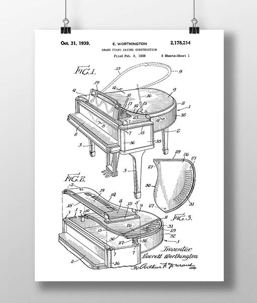 Piano Patent | Plakat 2