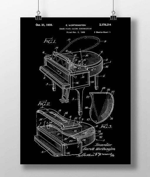Piano Patent | Plakat 1