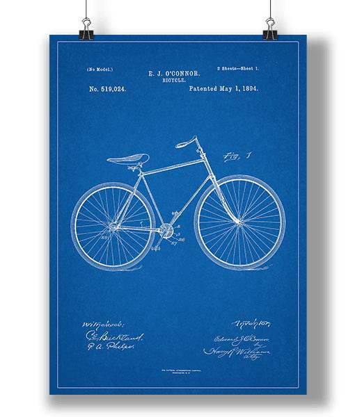 Plakat Cykel Blueprint 1
