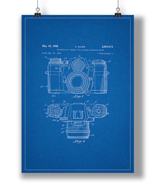 Plakat Kamera Blueprint 1