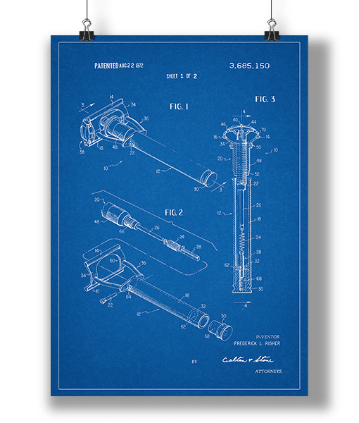 Plakat Barberskraber Blueprint 1