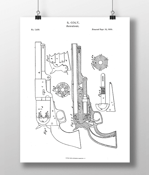 Pistol Revolver Patent | Plakat 2